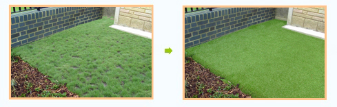 Artificial Grass Transforms a Garden